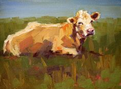 contentment, original painting by artist Carol Carmichael . Pictures To Paint, Art Pictures, Watercolor Animals, Watercolor Art, Cow Painting, Cow Art, Wildlife Art, Animal Paintings, Rind
