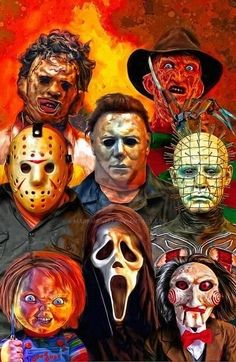 BROTHERTEDD.COM - Icons Of Horror by Mark Spears by markman777 on... Horror Movie Tattoos, Horror Movie Characters, Horror Movie Posters, Horror Photos, Halloween Artwork, Dope Cartoon Art, Horror Artwork, Horror Icons, Horror Films