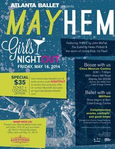 May 14, 2014: Girls Night Out at the Atlanta Ballet