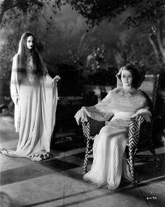 "honestlydeepesttidalwave: ""Elizabeth Allan & Caroll Borland - 'Mark of The Vampire' - 1935 """