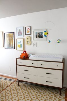 Mid-Century 6 Drawer Dresser (as a changing table!) from west elm