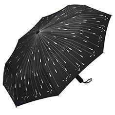 Paraguas de Viaje Plegable Automático Gotas de Lluvia