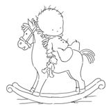 *Stamp* - Rocking Horse Colouring Pages, Coloring Sheets, Kids Stamps, Baby Icon, Baby Painting, Shower Bebe, Baby Drawing, Easy Christmas Crafts, Felt Patterns