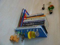 invisible book shelves plus earring holder