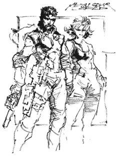 Snake & Meryl Sketch, Metal Gear Solid 1