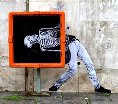 Street art by Levalet in Paris, France / hipicon.com