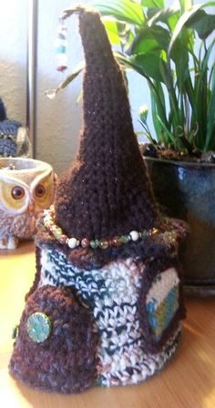 My crochet fairy house