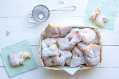 Bugnes au four {sans friture !} Beignets, Crepes, Thermomix Desserts, Biscuits, Bread, Cooking, Healthy, Pains, Food
