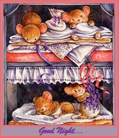 Cute Mice sooooo tired...