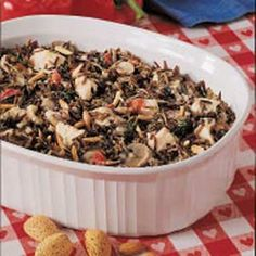Chicken Wild Rice Casserole Recipe. I love this recipe! Taste so good that my hubby get tired or it cuz I do make it a lot...lol. Leave out almonds if you have someone who isn't into nuts...will taste just as good