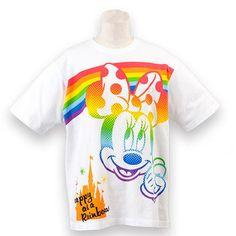 東京ディズニーリゾート レインボー Tシャツ ミニー S〜LL