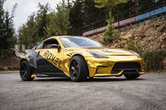 follow us on instagram @rovelution for more! Gold chrome 350Z drift car #rovelution #roveloil #driftcar #drifting Gold Chrome, Drifting Cars, Bmw, Photo And Video, Vehicles, Instagram, Car, Vehicle, Tools