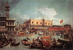 PAINTING.....1730....GIOVANNI ANTONIO CANAL...IL CANALETTO...ASCENSION DAY.....WIKIPEDIA.....