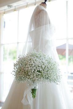 Babys breath bouquet. Beautiful, simple