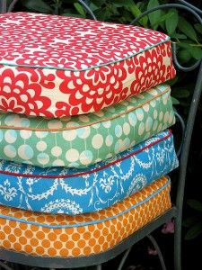 FUN: Bright Assortment Of Patio Cushions With Contrasting Cording Outdoor  Cushions, Garden Cushions,