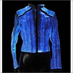 sci-fi-fashion: Fiber-optic clothing from Lumigram Light Up Clothes, Man Clothes, E Textiles, Design Textile, Future Clothes, Wearable Technology, Fiber Optic, Blouse, Rave