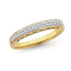 9ct Gold Diamond Band | Prouds The Jewellers