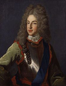 """James Francis Edward, Prince of Wales (James Francis Edward Stuart; the Chevalier de St George or """"The Old Pretender"""" or """"The Old Chevalier"""") lived 1688–1766), son of the deposed James II of England (James VII of Scotland) and Mary of Modena. Married Maria Klementyna Sobieska. Succeeded by his son Charles Edward Stuart (Bonnie Prince Charlie) in the Jacobite Succession."""