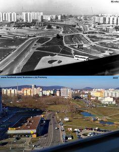 Pohľad na Námestie Hraničiarov v 80 rokoch a v roku 2019 - Porovnanie je približné 😍😍😍 Bratislava, News Media, My Memory, Nostalgia, Memories, Memoirs, Souvenirs, Remember This, Baler