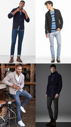Men's Cardigan with Sneakers/Boots/Chelsea Outfit Inspiration Lookbook - How To wear A Cardi Without Looking Like Your Dad or Granddad