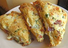 bacon, cheese, scallions.  What could be better for breakfast?