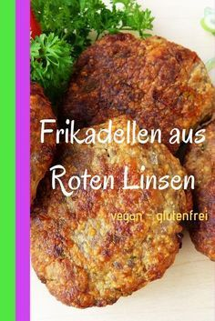 Red lentil meatballs / vegan patties made from red lentils-Rote Linsen Frikadellen / Vegane Bratlinge Aus Roten Linsen Meatballs do not necessarily have to contain meat. These red lentil meatballs are rich in protein and are vegan and gluten-free. Easy Healthy Recipes, Easy Dinner Recipes, Low Carb Recipes, Healthy Snacks, Vegetarian Recipes, Easy Meals, Healthy Eating, Gourmet Recipes, Delicious Recipes