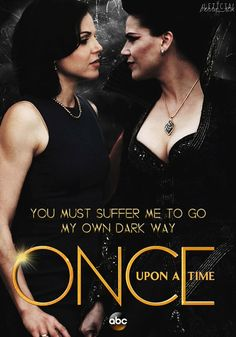 Awesome Regina and Evil Queen Regina (Lana) on an awesome poster for awesome #Once #S6
