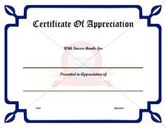 Certificate Of Appreciation Templates Free Download Business Certificate Templates  Certificate Template  Pinterest .