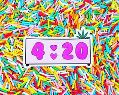 """420 2x3 in"""" Kawaii Clock Laptop Stickers, Cool Stickers, Cool Laptop stickers, Small Laptop Stickers, iPhone stickers, sticker for laptop"""