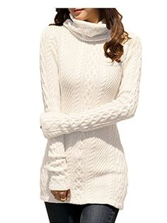 ee47ff8c5c v28 Women Polo Neck Knit Stretchable Elasticity Long Sleeve Slim Sweater  Jumper (US Size 6