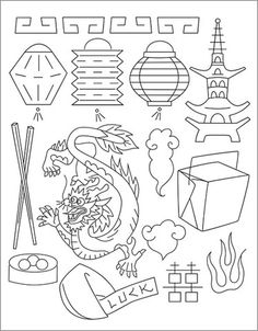 Chinese Coloring Pages Coloring