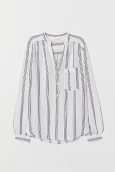 Button up in style with crisp white shirts, sheer blouses and cute tunics. Discover our large selection of women's shirts and blouses! Tunic Sewing Patterns, Blouse Patterns, Satin Blouses, Shirt Blouses, Black Blouse Designs, V Neck Blouse, Sheer Blouse, Pretty Shirts, Summer Fashion Outfits