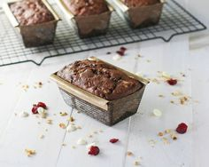 Chocolate Walnut Cranberry Pear Tea Breads - These would make amazing gifts!