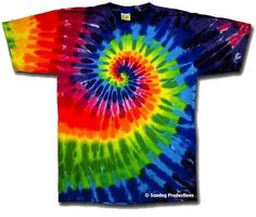 Rainbow Swirl tie dye t-shirt <br> Our cotton rainbow tie dye t-shirts feature a classic swirl design and are made in the USA! Buy tie dye tees and official rock gear at eDeadShop. Make A Tie, How To Tie Dye, Sharpie Tie Dye, Sharpie Markers, Diy Tie Dye Shirts, Diy Shirt, Tye Dye, Designs Tie Dye, Camisa Hippie
