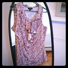 Floral blouse Fun spring time blouse with rouched neckline. Great with a pair of slacks or skirt. The Limited Tops Blouses