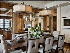 Rustic/contemporary dining - paramount design group - www.paramountdesigngroup.net