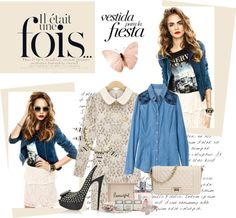 """Lace rocks! - Persunmall"" by persunmall ❤ liked on Polyvore"