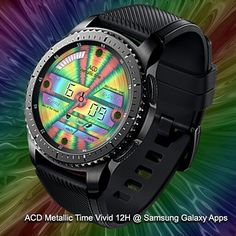 ACD Metallic Time Vivid 12H and 24H on Samsung Galaxy Apps  #gears2 #gears3 #watchface #watch #samsunggear #samsung #colorful #vivid #metallic #rainbow #style #fashion #party