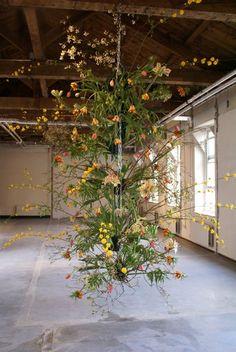 Frank Bruggeman floral installation - absolutely amazing! Kinda looks like Kokedama?