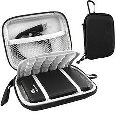 lacdo® suojaava kova iskunkestävä laukku kotelo 2,5 tuuman WD Seagate Toshiba 1TB 2TB USB 3.0 ulkoinen kovalevy - EUR € 4.54
