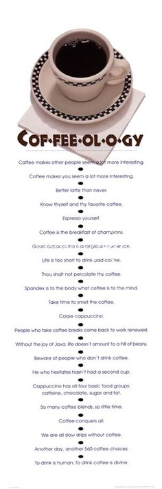 cof-fee-ol-o-gy. I feel like coffee and writing go hand in hand. I'm a tea lover at heart, but the smell of copy and printer ink, you can't beat it. Coffee Talk, Coffee Is Life, I Love Coffee, Coffee Break, Coffee Shop, Coffee Lovers, Morning Coffee, Coffee Quotes, Coffee Humor