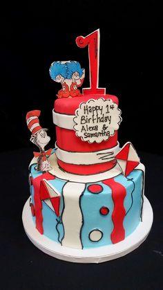 Cookie Jar Bakeshop I Custom Cakes I 1st Birthday Cake I Baby Shower Cake I Dr. Seuss Themed Cake