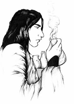 snape by odella. Professor Severus Snape, Severus Rogue, Harry Potter Fan Art, Harry Potter Characters, Slytherin Pride, Hogwarts, Snape And Lily, Sirius Black, Fantastic Beasts