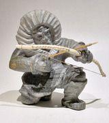 Barney Patungayak ), Inuit artist biography and portfolio Arte Inuit, Inuit Art, Sculptures, Lion Sculpture, Tlingit, Artist Biography, Canadian Art, Wood Carvings, Spirals