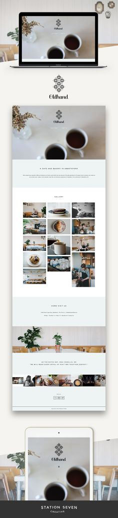 Simple and elegant site by Oldhand Coffee running on Station Seven's Coastal WordPress theme.