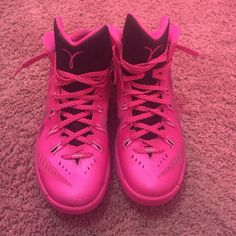 Nikes Pink 2014 Nike Hyperdunks. Size 8 in men. Fits size 9.5-10 in women. Worn a couple of times. 9.5/10 condition. No box!! Nike Shoes Athletic Shoes