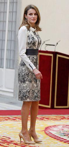 Crown Princess Letizia of Asturias award Fin Arts medal 12/10/2013