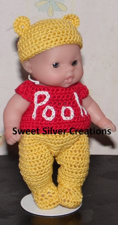 Crochet Pattern - 5.5 inch Berenguer/Lots to love/Itsy Bitsy Baby Pooh