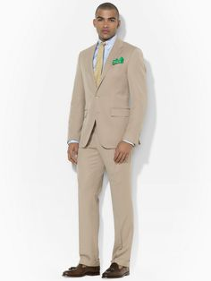 Two-Button Gabardine Suit - Suits   Men - RalphLauren.com