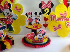 Baby Boy 1st Birthday Party, Happy Birthday Celebration, 4th Birthday, Mickey Party, Mickey Mouse Birthday, Mickey Minnie Mouse, Cake And Cupcake Stand, Mouse Parties, Party Themes